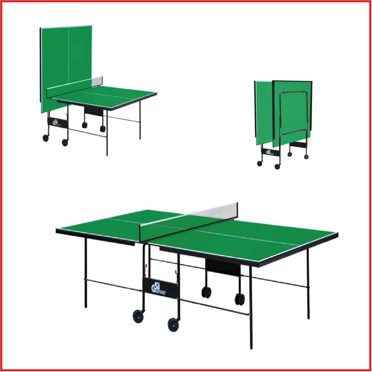 Теннисный стол для пинг понга для помещений Атлетик Стронг GSI-Sport Athletic Strong Gk-3.18