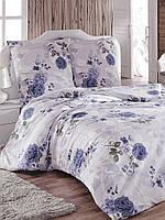 Двуспальный комплект постельного белья евро 200*220 сатин (14666) TM КРИСПОЛ Украина