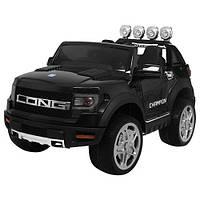 Детский электромобиль Машина Джип Ford черный  для мальчика девочки  3 4 5 6 7 8 лет  2 мотора M 3579EBLR-2