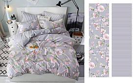 Комплект постельного белья евро на резинке 200*220 хлопок (13102) TM KRISPOL Украина