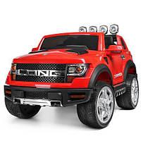 Детский электромобиль Машина Джип Ford красный для мальчика девочки  3 4 5 6 7 8 лет  2 мотора M 3579EBLR-3