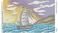 Схема для вышивания бисером ''Белые паруса'' А3 29x42см