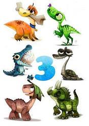 Вафельна картинка для кондитерських виробів Динозаври (аркуш А4) 18