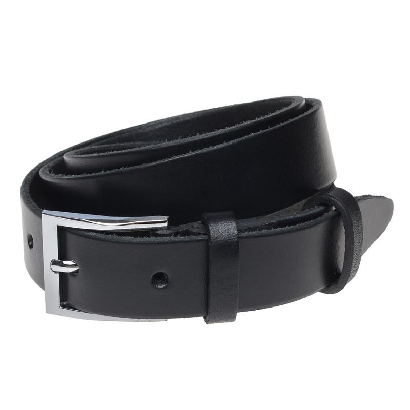 Мужской кожаный ремень Borsa Leather br-125rmkn1-black