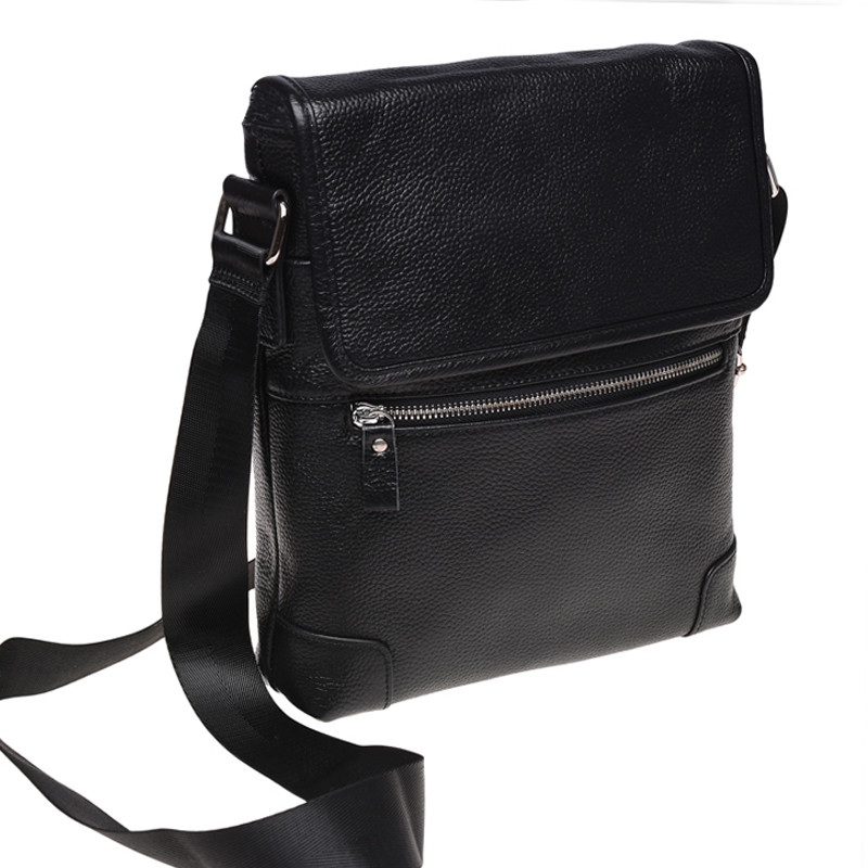 Мужская кожаная сумка Borsa Leather k10013-black