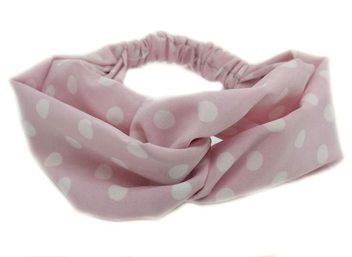 Повязка на голову женская розовая