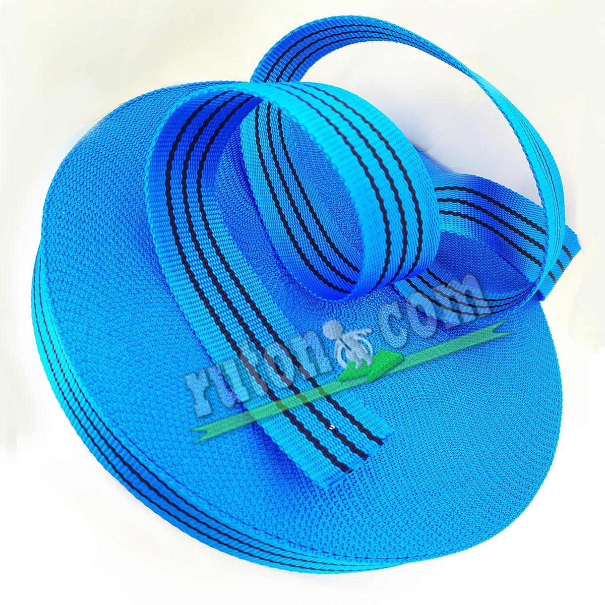 50 мм 50 м на 2 т синя капроновая буксировочная лента для стяжных ремней / тісьма буксирувальна