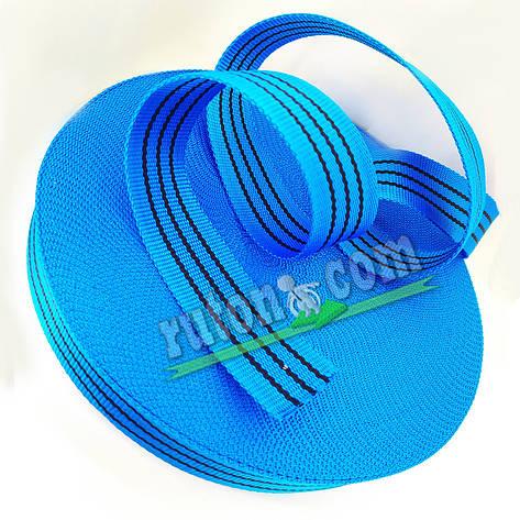 50 мм 50 м на 2 т синя капроновая буксировочная лента для стяжных ремней / тісьма буксирувальна, фото 2