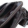 Мужская кожаная сумка на пояс Borsa Leather 1t167m-brown, фото 5