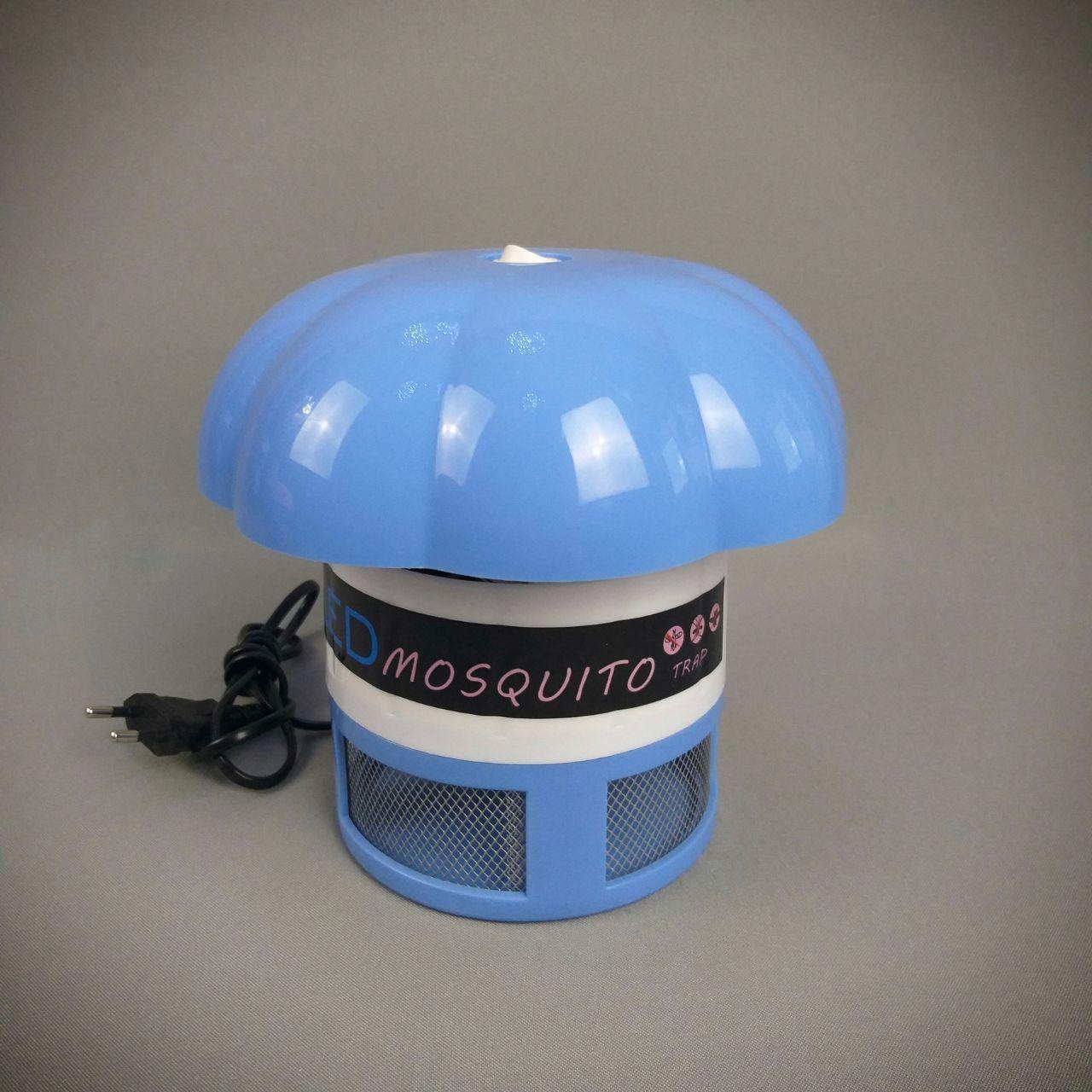 Ловушка для насекомых с вентилятором и подсветкой в голубом цвете для мальчика грибочек