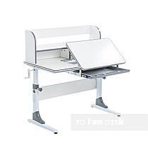 Комплект растущая парта для школьников Cubby Nerine Grey+эргономичное кресло FunDesk Pittore Blue, фото 3