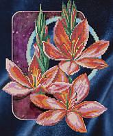 """Рисунок на ткани для вышивания бисером """" Лилии"""""""