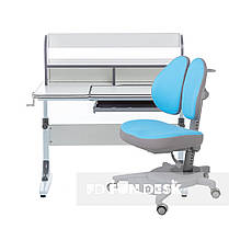 Комплект растущая парта для школьников Cubby Nerine Grey+эргономичное кресло FunDesk Pittore Blue, фото 2
