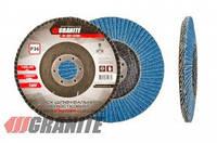 GRANITE  Диск шлифовальный лепестковый конусный ZIRCONIA зерно 100 125*22 мм, Арт.: 8-32-100