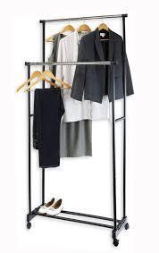 Напольная вешалка-стойка Double Pole Clothersrack, двойная телескопическая для одежды  130*70см