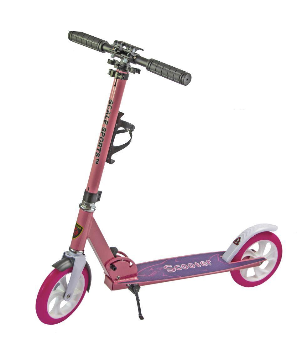 Самокат складной для подростков и взрослых двухколесный Scale Sports Scooter SS-05 до 100 кг с подножкой