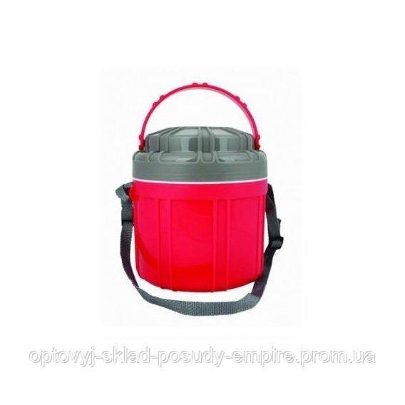 Термос 2,5л  пищевой ,4 контейнера платиковая колба Con Brio СВ 375 Т