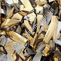 Конфетти-Метафан золото 2х6 см