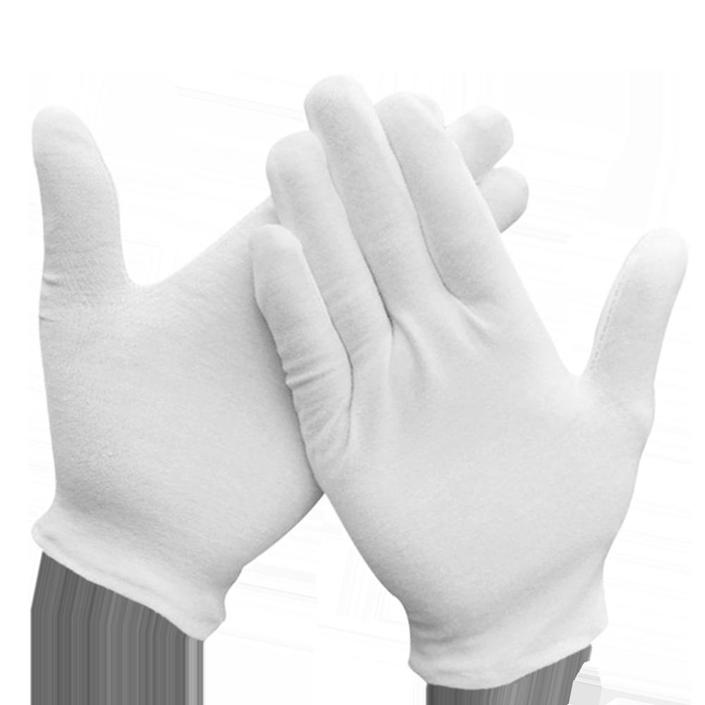 Перчатки для официантов хлопчатобумажные М Белые (уп/5 пар)
