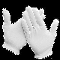 Перчатки для официантов хлопчатобумажные М Белые (уп/5 пар), фото 1