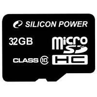 Карта памяти Silicon Power 32Gb microSDHC class 10 (SP032GBSTH010V10)