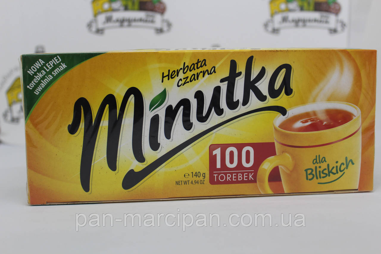 Чай чорний Minutka 100 пак