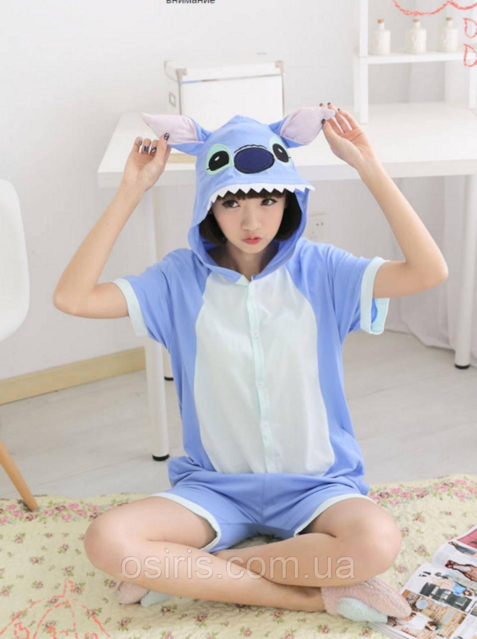 Пижама Кигуруми Стич летняя хлопок размер L на рост 165-175 см