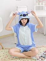Пижама Кигуруми Стич летняя хлопок размер L на рост 165-175 см, фото 1