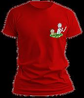 Футболка мужская красная Рик и Морти 4 года (на рост 104 см)