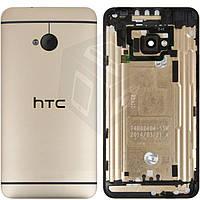 Задняя панель корпуса (крышка батареи) для HTC One M7 801e, оригинал (золотой)