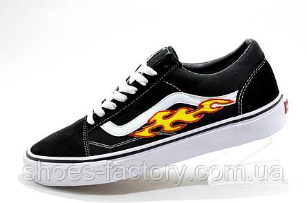 Мужские кеды в стиле Vans Old Skool с огнями, Black\White, фото 2