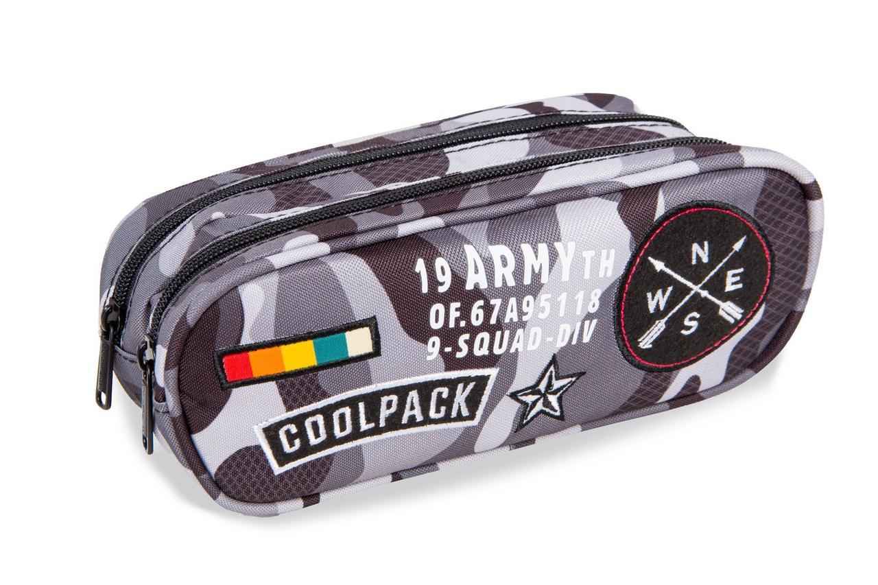 Пенал серии CLEVER коллекции CAMO BLACK (BADGES), CoolPack