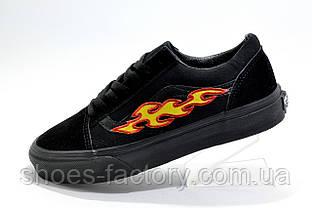 Кеды унисекс в стиле Vans Old Skool с огнями, Black