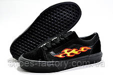 Кеды унисекс в стиле Vans Old Skool с огнями, Black, фото 3