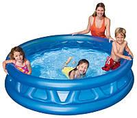 Надувной круглый бассейн для детей Intex  (188*46 см), синий