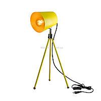 Настольная лампа в стиле лофт желтая на ножках SWT-2038 YL