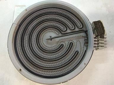 Конфорка для стеклокерамики 2-х зонная 900/3000Вт.
