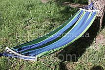 Тканинний гамак з короткою планкою 200*80см. Гамак човник для дому саду Колір №11, фото 2