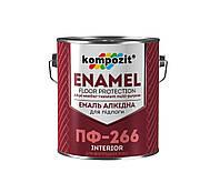 Эмаль для пола Kompozit ПФ-266 2,8 кг ПФ-266 Красно-коричневая