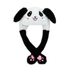 Модна шапка панда, микимаус, стіч, міньйон з піднімаються вухами і світяться в темряві