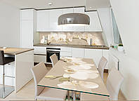 Наклейка на стол Zatarga Орхидея беж 02 650х1200мм для домов, квартир, столов, кофейн, кафе