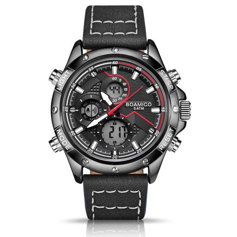 Мужские спортивные часы с черным ремешком код 600