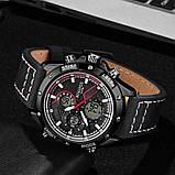 Мужские спортивные часы с черным ремешком код 600, фото 2