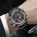 Мужские спортивные часы с черным ремешком код 600, фото 4
