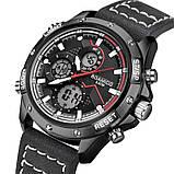 Мужские спортивные часы с черным ремешком код 600, фото 5