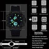 Мужские спортивные часы с черным ремешком код 600, фото 6