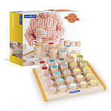 Набор деревянных блоков Guidecraft Manipulatives Цилиндры (G6734), фото 7
