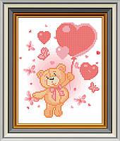 Схема для вишивки бісером На повітряних сердечках. Арт. СД-096