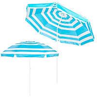 Пляжный зонт с регулируемой высотой и наклоном Springos 220 см BU0011 SKL41-252494