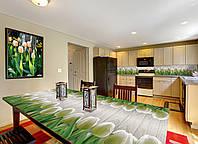 Наклейка на стол Zatarga Белые тюльпаны 650х1200мм для домов, квартир, столов, кофейн, кафе